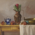 Crispin Akerman - Table Still Life with Protea 2017