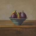 Figs - oil on linen, 25.5 x 25.5cm