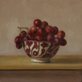 Grapes - oil on linen, 25.5 x 25.5cm
