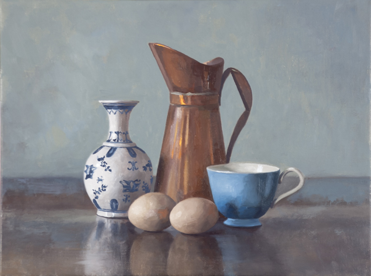 Blue & White Ceramics 2016 oil on linen 61x107cm